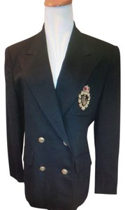 Ralph Lauren Just Like New Black Crown Crest Wool Black Blazer Jacket