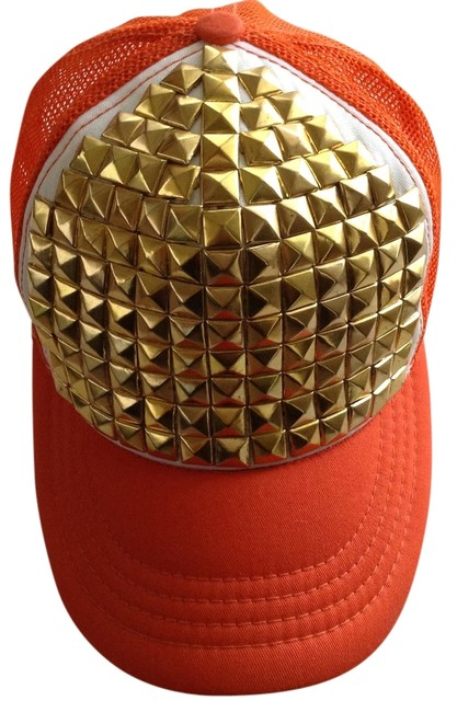 Item - Orange White and Gold The Hat