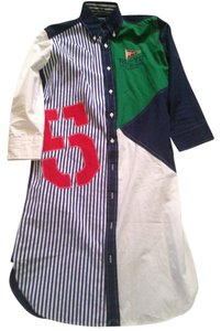 Ralph Lauren short dress Blue, white, red, green on Tradesy