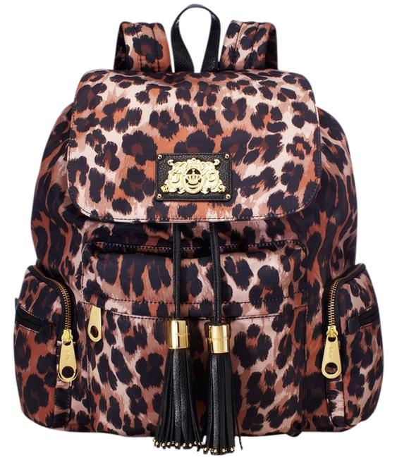 Item - Malibu Leopard Brown Nylon Backpack