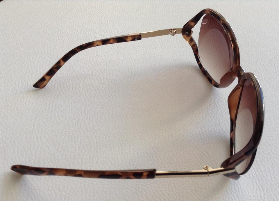 5239ac7ddbe6e Call It Spring Brown and Gold Jackie O Style Sunglasses - Tradesy