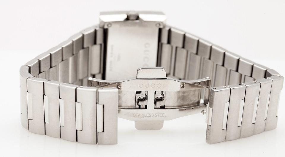 bcc9f0f02b6 Gucci NIB Gucci YA100520 G-Rectangle Silver G Frame 100L Series WATCH RARE  Authentic Image. 1234