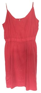 Twelfth St. by Cynthia Vincent short dress Coral Pink Salmon Silk on Tradesy
