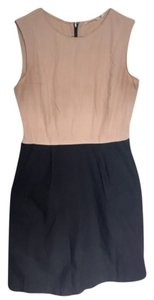 Uniqlo short dress Tan, Black Black Tan Beige Nude Work Sleeveless on Tradesy