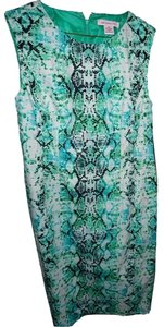 Liz Claiborne short dress Green Sheath Snakeskin Sexy Spandex on Tradesy