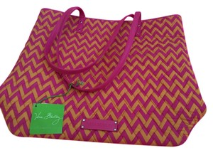 Vera Bradley Satchel in Hot Pink and Orange