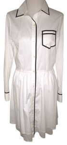 Pink Tartan short dress White with black piping Spring on Tradesy