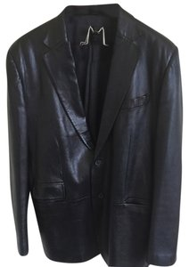 Gucci Mens Leather Men black Leather Jacket