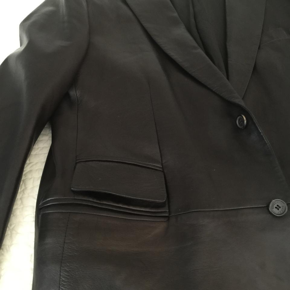0d91b2ac3ba Gucci Mens Men black Leather Jacket Image 9. 12345678910