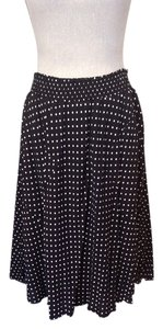Polka Dot Skirt Black