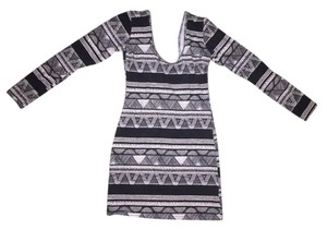 American Apparel short dress Black & White Pattern & on Tradesy
