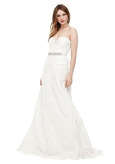 Nicole Miller Ivory Taffeta Mia Bridal Gown Hg0013 Formal Dress Size 0 (XS)