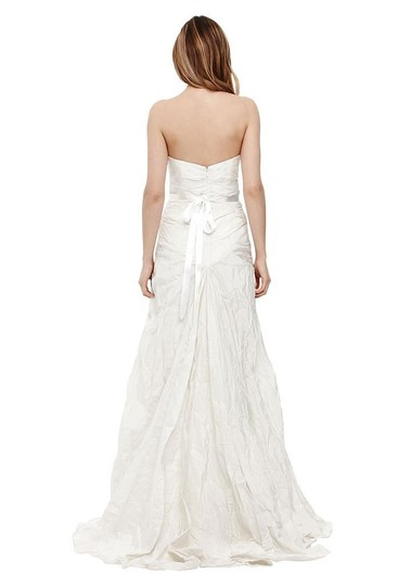 Nicole Miller Ivory Taffeta Mia Bridal Gown Hg0013 Formal Wedding Dress Size 0 (XS)