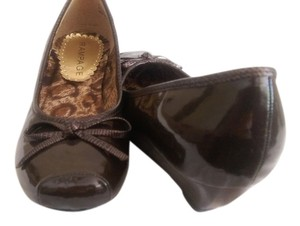 Rampage New Casual Wedge Square Toe brown Wedges