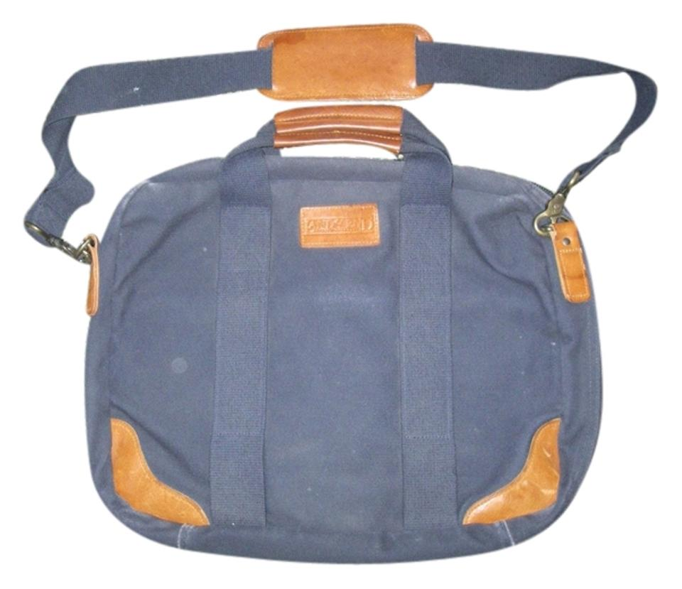 Lands' End Square Rigger Carry-on Usa Blue Canvas Weekend/Travel Bag