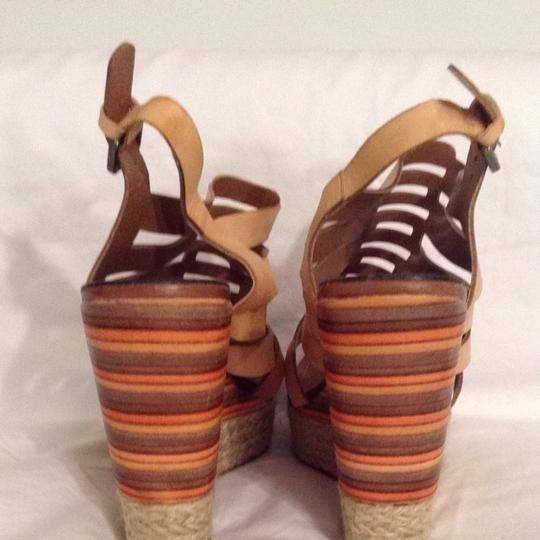 Masiero Leather Tan Wedges