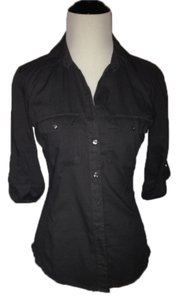 James Perse Shirt Top Charcoal Gray