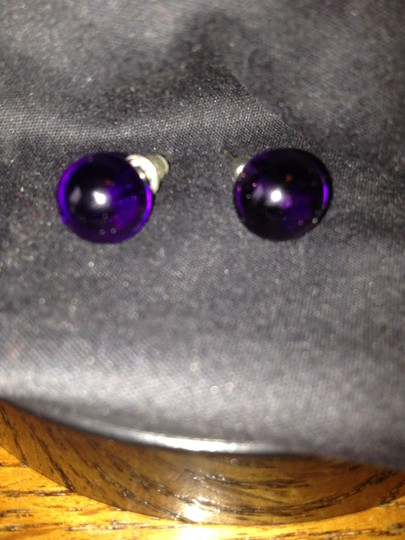 Other Gorgeous Amethyst Purple Round Earrings, with Sterling Silver Butterfly Backs