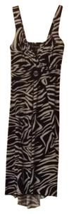 En Focus Studio Zebra High Low V-neck Dress