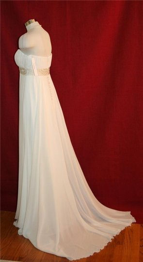 Nicole Miller Antique White Silk Beaded Bridal Gown Ja0005 Maternity Optional Formal Dress Size 2 (XS)