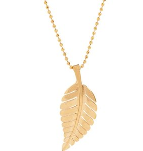Jennifer Meyer Jewelry Gold Leaf Necklace