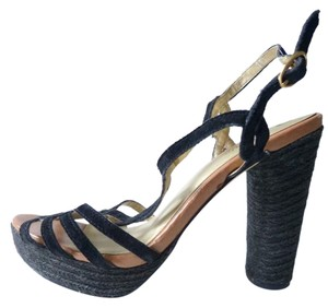 Seychelles Velvet Anthropologie Black Sandals