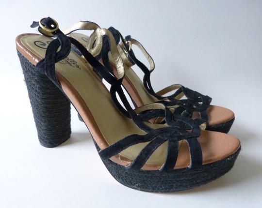 Seychelles Velvet Anthropologie Los Angeles Black Sandals