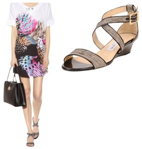 Jimmy Choo Black & Natural Sandals