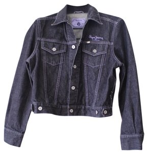 Pepe Jeans black gray Womens Jean Jacket