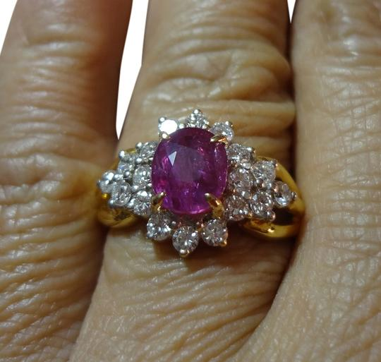 Preload https://item2.tradesy.com/images/purplish-red-307-ct-natural-untreated-ruby-and-diamond-22k-gold-ring-6886291-0-1.jpg?width=440&height=440