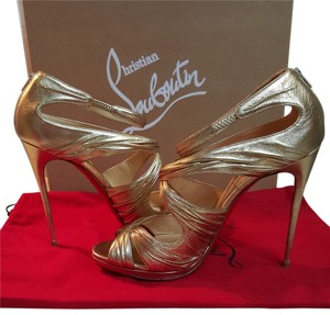 Christian Louboutin Red Bottoms Louboutin gold Sandals