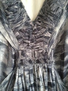 Tony Cohen Flowy Gray Pattern Dress