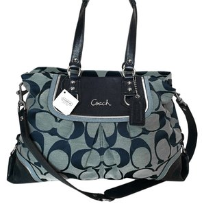 Coach Signature Ashley Satchel in Navy Blue