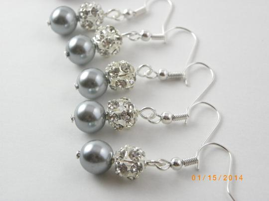 Other 5 Pairs Bridesmaid Earrings 5 Pairs Pearl And Rhinestone Earrings Bridesmaid Pearl Earrings Pearl And Crystal Earrings