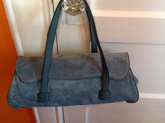 Tod's Silver-to Silver-tone Hardware Loop Closure Satchel in Blue