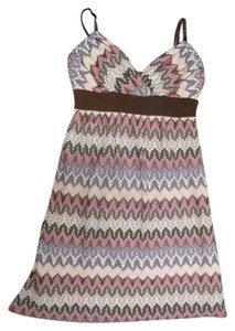 Jodi Kristopher short dress Pink and Brown on Tradesy