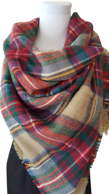 Item - Camel Red New Sold Out Large Blanket 4219/205/704 Scarf/Wrap