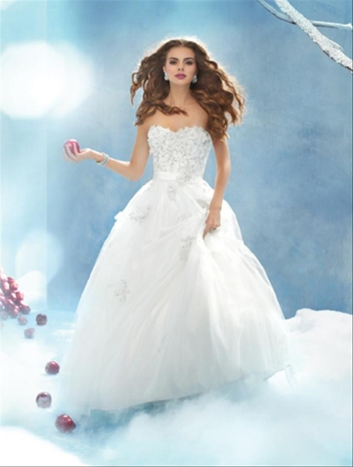 Alfred Angelo White Snow Wedding Dress Size 4 S