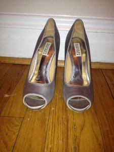 Badgley Mischka Silver Pumps Wedding Wedding Shoes