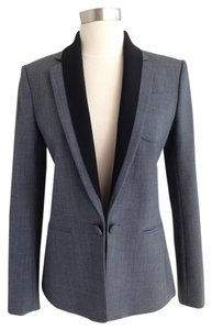 Theory Wool Cotton Gray Blazer