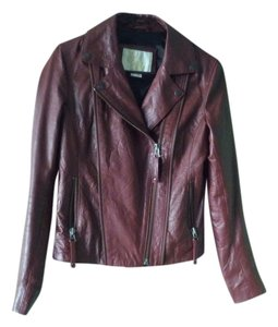 Sara Berman Leather Burgundy Leather Jacket
