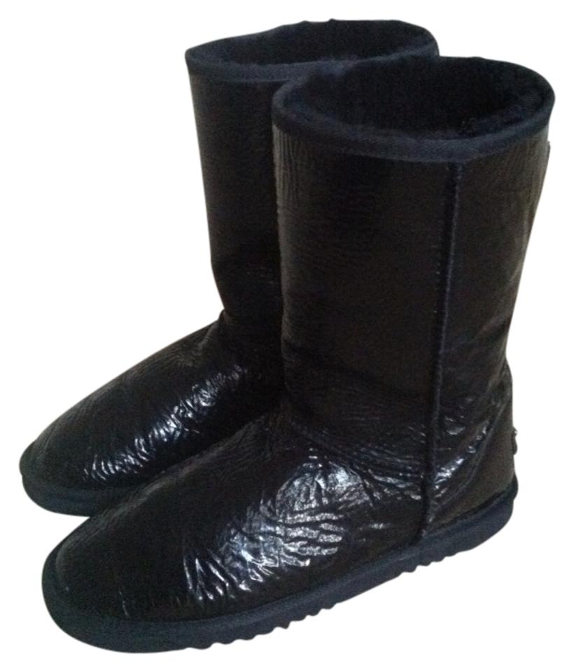 black patent leather ugg boots
