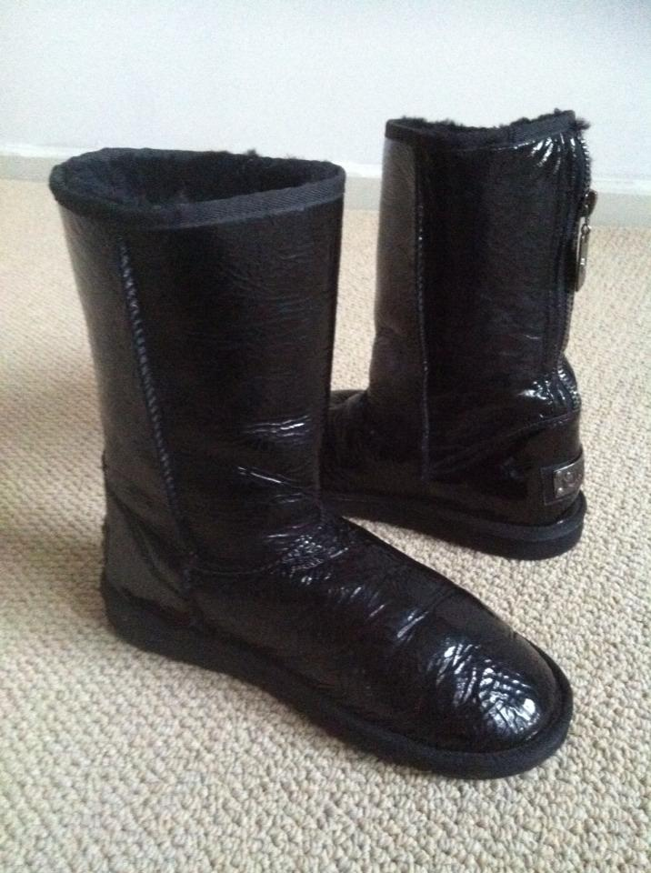 black patent leather uggs