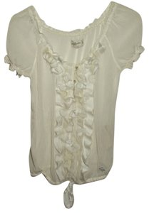 abercrombie & fitch Sheer Top Ivory