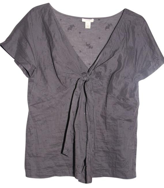 Preload https://item5.tradesy.com/images/jcrew-gray-classic-blouse-size-2-xs-689649-0-0.jpg?width=400&height=650