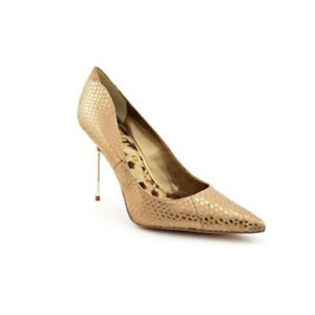 Item - Gold / Bronze / Snakeskin Pumps Size US 7.5