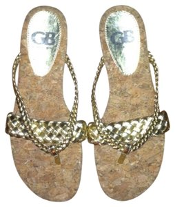 Gianni Bini Gold Sandals