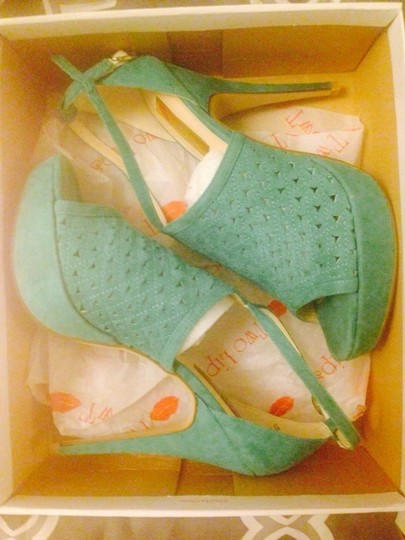 Two Lips Heels Aqua / Turquoise Sandals
