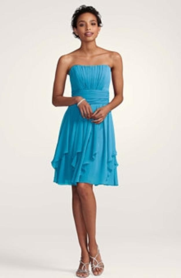 Blue L F14169 Color Malibu Strapless Chiffon Bridesmaid Mob Dress