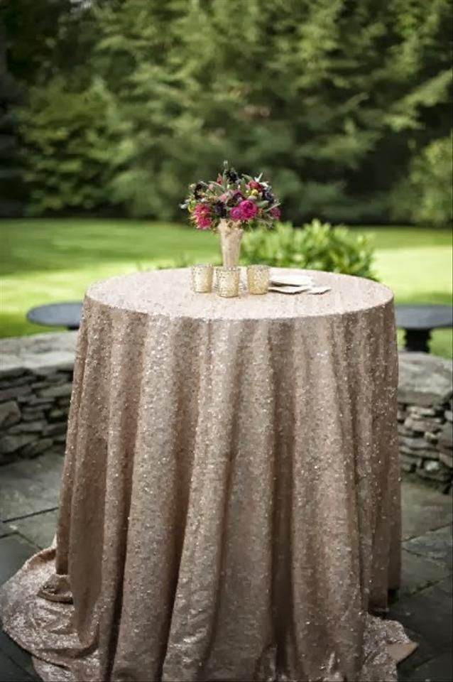 sequin champagne tablecloths tradesy weddings